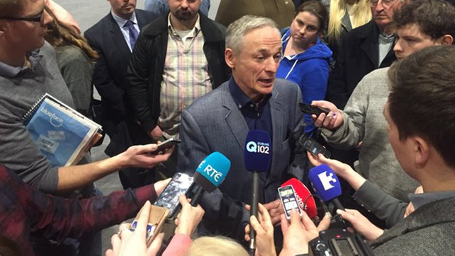 Fine Gael's Richard Bruton speaks to the media having been re-elected to Dublin Bay North