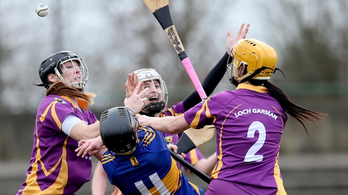 Tipperary's Mary Ryan under pressure from the Wexford defence in Cloughjordan