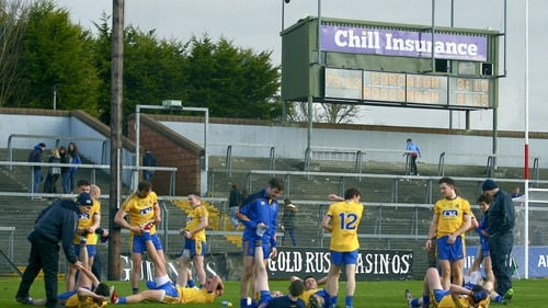 Roscommon players warming down after their demolition of Cork