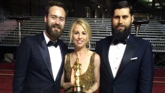 Irish Oscar winner will store his award in his 'auld pair's gaff'