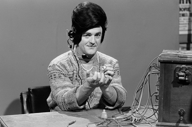 Frank Kelly as a telephonist in 'Hall's Pictorial Weekly' (1979)