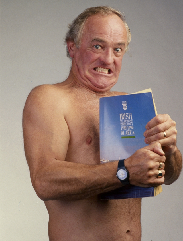 Frank Kelly in publicity shot for the RTÉ Guide (1991)