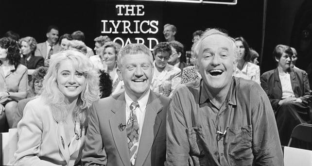 Theresa Lowe, John Keogh, Frank Kelly on 'The Lyrics Board' (1993)