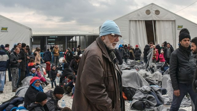Thousands of migrants and refugees are stranded at the border area