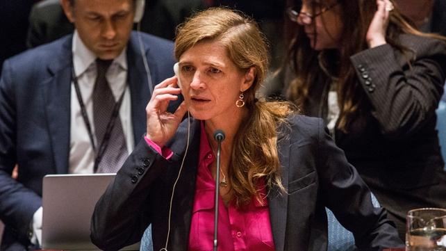 US Ambassador Samantha Power said the resolution would send a strong message