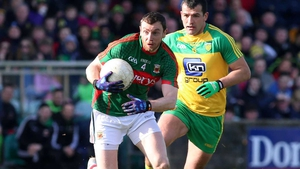 Keith Higgins had to leave the pitch in Ballybofey after 24 minutes