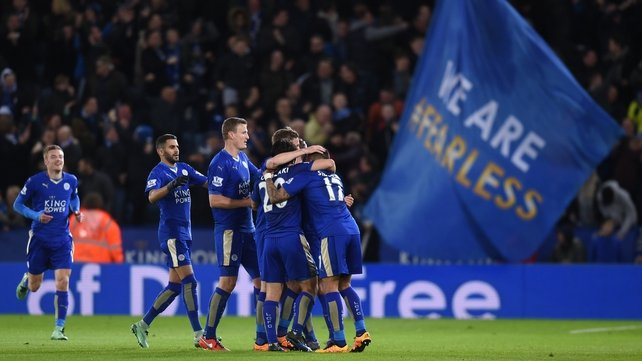Leicester were celebrating after coming from behind but would go on to draw
