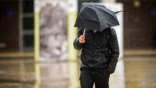 Met Éireann is warning of the risk of flooding as a result of the rainfall