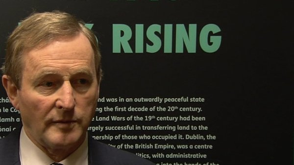Enda Kenny attended a 1916 exhibition in CollinsBarracks