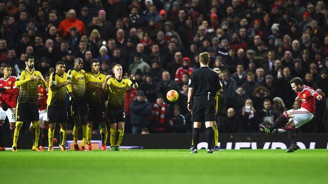 Juan Mata's dead ball skill saw Manchester United take all three points