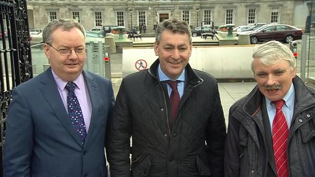 Michael Moynihan, Billy Kelleher and Willie O'Dea arrive at the Dáil