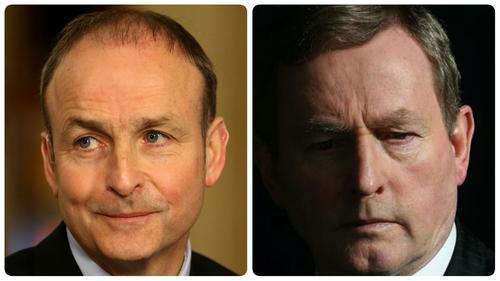 Fianna Fáil's Micheál Martin and Fine Gael's Enda Kenny