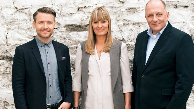 RTÉ Home of the Year judges Declan O'Donnell (L), judges Declan O'Donnell, Helen James and Hugh Wallace