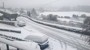 Like much of Leinster, Sandyford in Co Dublin was blanketed in snow