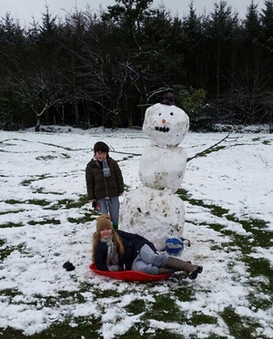 It's official - it's a snow day (Pic: Lisa Galvin)