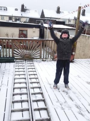 Adam Keogh in Greenhills took full advantage of the snow before school