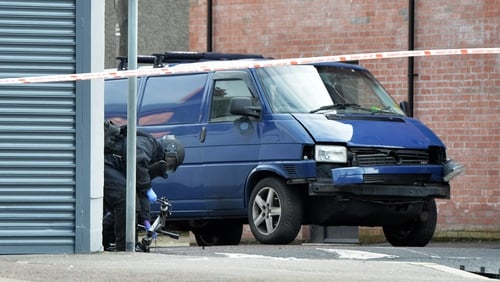An explosive device detonated under the van the prison officer was driving in Belfast on Friday morning