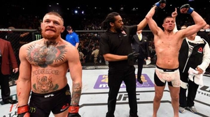 Conor McGregor lost to Nate Diaz at UFC196