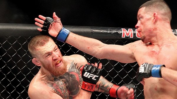 Nate Diaz: 'They'll want to bring him back to the top, but I knew I was better than him.'