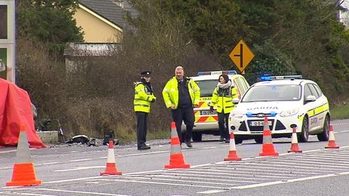 Garda forensic collision investigators remain at the scene