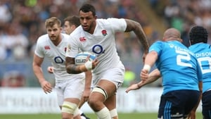 Courtney Lawes was injured playing for Northampton