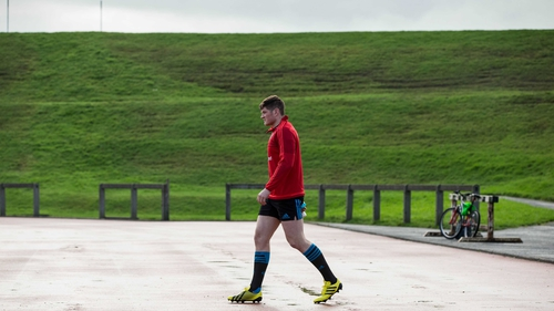 Jack O'Donoghue at Munster training in UL, Limerick
