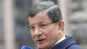 Ahmet Davutoglu was speaking at a press conference following a visit to a refugee camp on the Syrian border