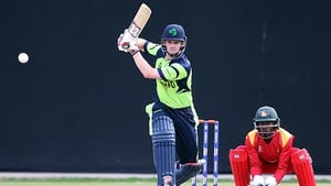 William Porterfield in action during Ireland's warm-up clash with Zimbabwe