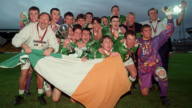 The Republic of Ireland team who lifted the 1998 UEFA European Under-16 Championship