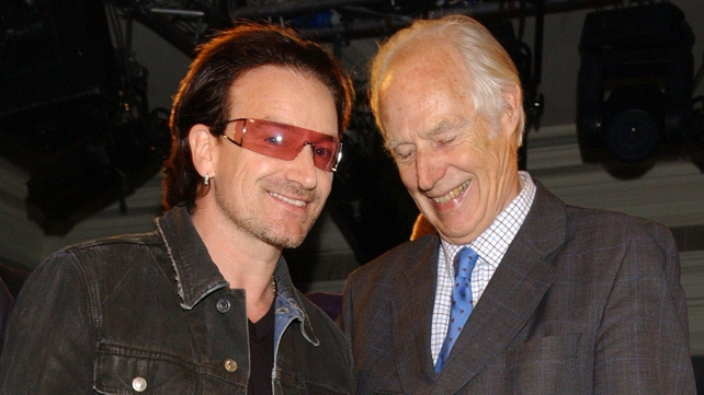 Bono pictured with Mr Martin in 2005