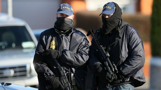 Heavily armed gardaí were involved in the operation