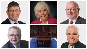 Andrew Doyle, Maureen O'Sullivan, Caoimhghín Ó Caoláin, Seán Ó Fearghaíl and Bernard Durkan are in contention