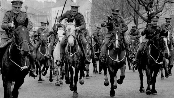 'Insurrection' Lancers on O'Connell Street (1966)
