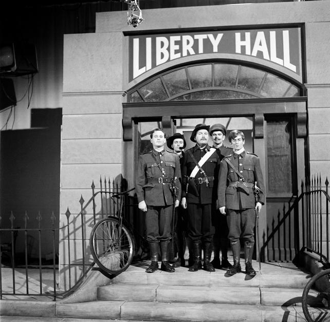 Insurrection  Eoin Ó Súilleabháin as Patrick Pearse, Patrick Waldron as William (Willie) Pearse, Ronnie Walsh as James Connolly, Kevin Flood as The O'Rahilly and Declan Harvey as Joseph Mary Plunkett.
