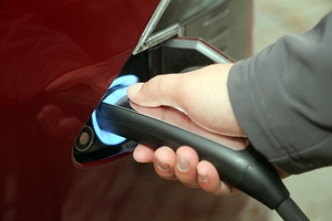 Plug-in hybrid cars that use a normal engine are increasingly popular in Ireland.