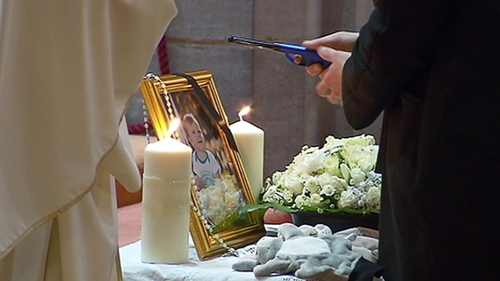 A special mass was celebrated in Polish and English for baby Karol and his family