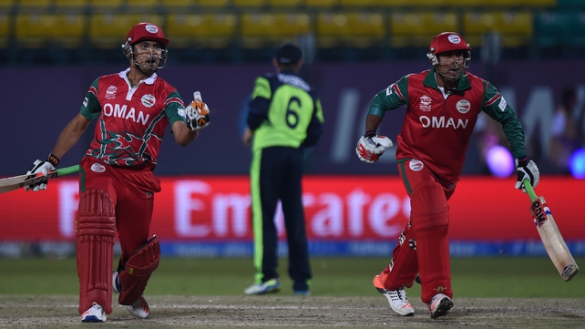 Oman's batting line-up chased down Ireland's total of 154