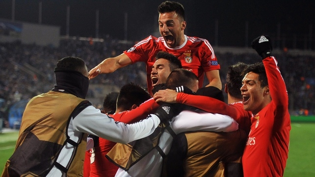 Benfica hit Zenit St Petersburg with a late sucker-punch to make the Champions League quarters