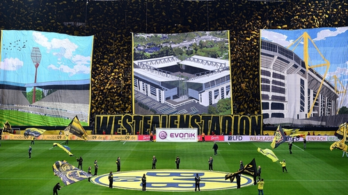 The Westfalenstadion wil lbe awash with colour for the visit of Spurs on Thursday night