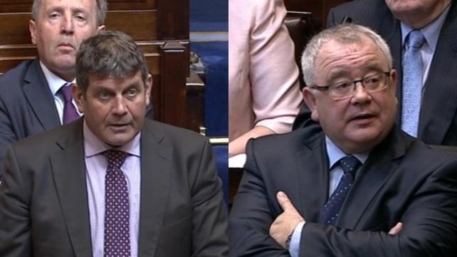 Fine Gael's Andrew Doyle (L) Fianna Fáil's and Ó Fearghaíl were the last two contesting the election