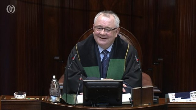 Ceann Comhairle Seán Ó Fearghaíl's first order of business was to preside over the vote for a new taoiseach