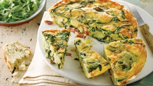 Bacon, Spinach, Potato Frittata recipe