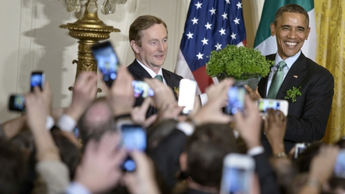Enda Kenny at the Shamrock ceremony in the White House last year