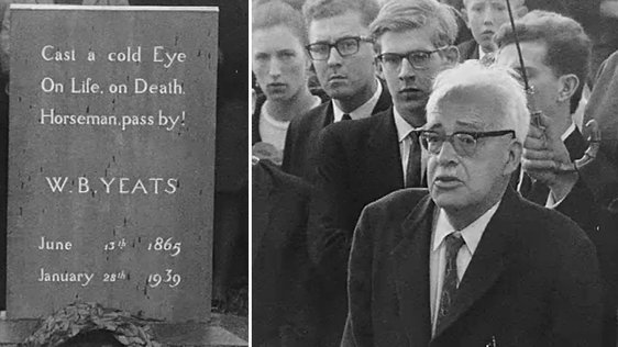 Frank O'Connor at the Graveside of WB Yeats (1965)