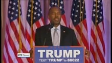 Trump's bid for the Republican party presidential nomination backed by Carson