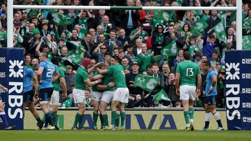 Ireland ran in nine tries against the hapless Italians