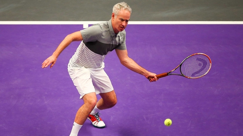 John McEnroe in action during the Legends Exhibition match last year at the Royal Albert Hall