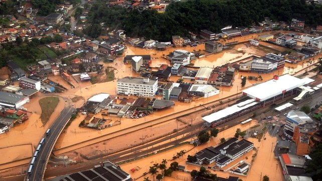 The downpours have caused floods and chaos in Sao Paulo