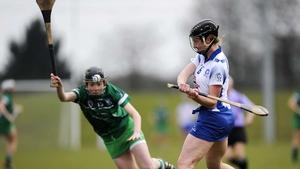 Niamh Ryan of Limerick looks to block Fiona Morrissey's effort
