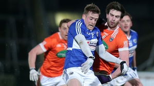 Laois lost Kieran Lillis, seen here in action against Armagh, after he suffered an apparent leg fracture